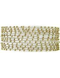2b4178634d21 Banithani hilo de seda pulsera de metal brazalete dorado establecer bisutería  2   12 regalo para