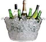 BarCraft Acrylic Large Drinks Cooler Bucket, 47 x 28 cm (18.5' x 11')