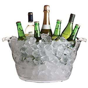 KitchenCraft BarCraft Acrylic Large Drinks Cooler Bucket, Transparent, 10 Litres