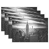 XiangHeFu Tischsets York City, Rutschfest, hitzebeständig, 30,5 x 45,7 cm, 1 Stück, Polyester-Mischgewebe, Image 92, 12x18x6 in