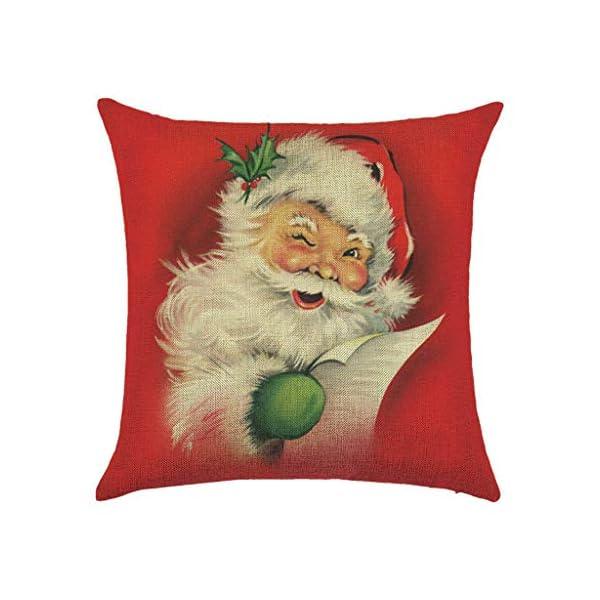 IJKLMNOP Christmas Pillow 45x45cm Funda de Almohada de Lino Cojín Cuadrado Adecuado para oficinas, familias, automóviles… 1
