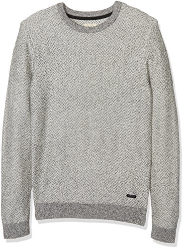 LEE Chewron Crew, Pull Homme Gris (GREY MELE 37)