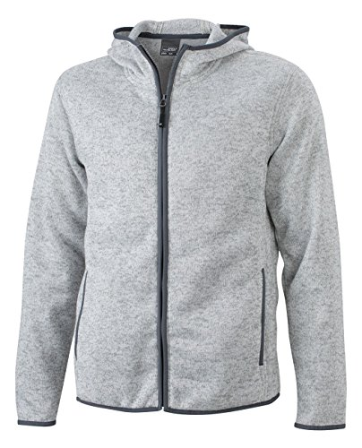 JN589 Men´s Knitted Fleece Hoody Kapuze Fleecejacke