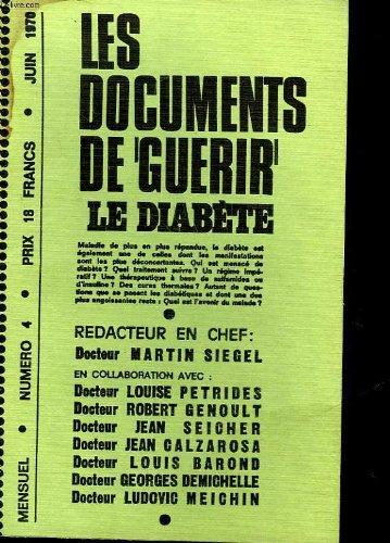 Les documents de guerir - n°4 - le diabete