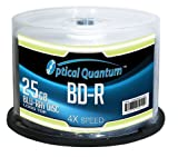 Optische Quantum oqbdr04lt 4x 25GB BD-R Single Layer Blu-Ray beschreibbare Logo Top 50 Discs