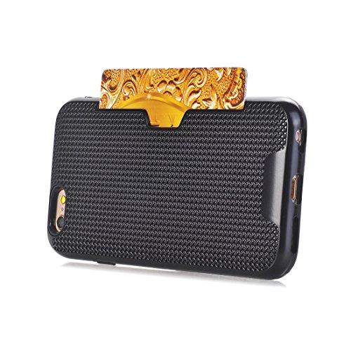 Phone Case & Hülle Für iPhone 6 Plus und 6s Plus Dream Network Fallschutz-Schutzhülle mit Kartensteckplätzen ( Color : Green ) Black