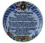 Wandteller Bayernhymne