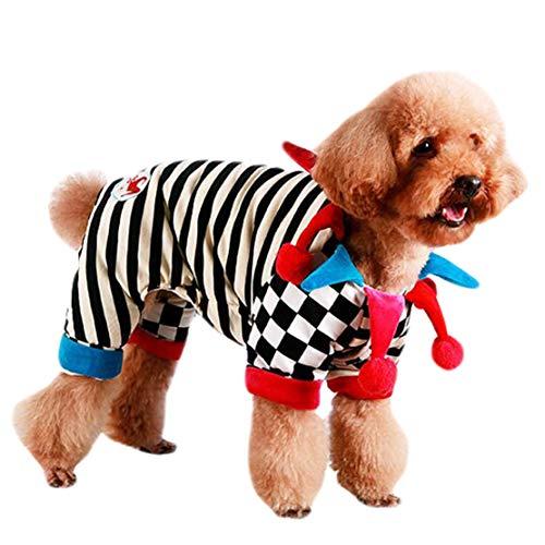 Party Clown Kostüm Stadt - mama stadt Haustier Clown Kostüm, Lustiges Haustier Pullover mit Kapuze Clown Kostüm für Kleine Hunde Katze Halloween-Partei Cosplay
