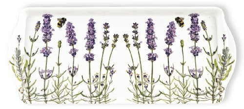 Ashdene I Love Lavender 6-1/2 by 15-Inch 100-Percent Melamine Sandwich Tray by Ashdene -