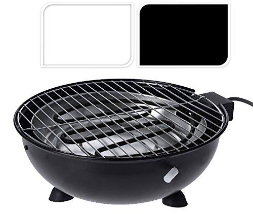 Tisch-Grill, elektrisch, rund, weiß, Barbecue Elektrogrill (Pool-tisch Elektrische)