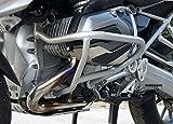 Paracilindri-paramotore tubolare in ferro verniciato Argento compatibile con BMW R 1200 GS LC 2016