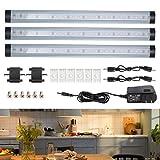3er LED Unterbauleuchte dimmbare Lichtleiste Küchenleiste LED Küchenleuchte Küchenlampe Schrankleuchte Schranklampe für Kleiderschrank, Kabinette, Küche, Showcase, Keller von GreenClick