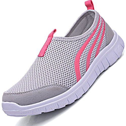 Men's Mesh Breathable Slip On Rubber Sole Small Round Casual Shoes GreyA