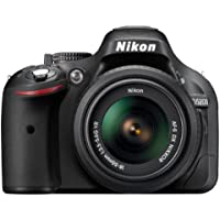 Nikon D5200 SLR-Digitalkamera (24,1 Megapixel, 7,6 cm (3 Zoll) TFT-Display, Full HD, HDMI) Kit inkl. AF-S DX 18-55 mm VR Objektiv schwarz