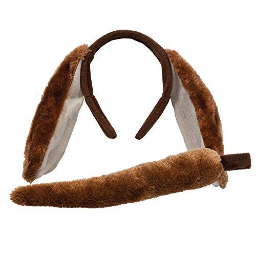 Animal Ohren Und Schwanz Set Outfit Zubehör für Kostüm Hund