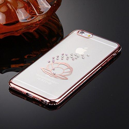 iPhone 6s 6 Case, KrygerShield® - Luxus Leichte super dünnen Diamant Auto Cover - Rose Gold (Anhänger) Rose Gold (Shell)