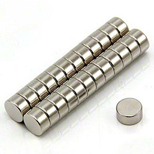 Imanes de nevera de cilindro de neodimio N52 (30 piezas) | 6mm x 3mm, 1/4 'x 1/8' | Imanes de disco de tierra rara para artesanías, manualidades, hobbies y organización de oficinas por Magnetron
