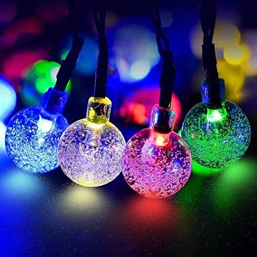 ECOWHO Solar Lichterkette Außen mit LED Kugel 7.5m 40 LED Solarbetriebene Lichterketten für Innen, Garten, Hochzeit, Party, Weihnachten[Energieklasse A++]