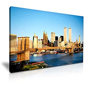 World Trade Center USA Canvas Wall Art Picture Print 76cmx50cm