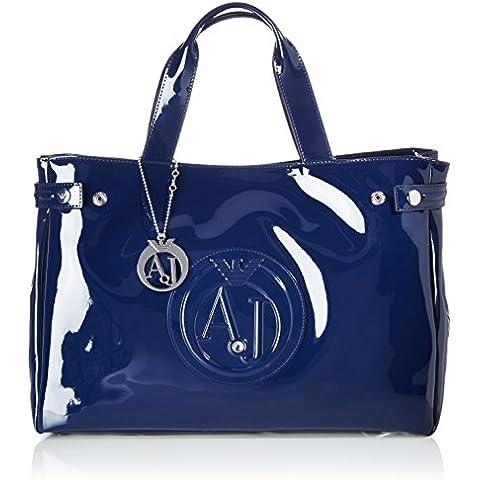 Armani Jeans Large Patent Mujer Handbag Negro