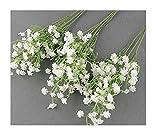TaoNaisi 10 pcs Faux Fleur en Gros Simulation Réel Naturel Babys Breath Artificielle Gypsophile Paniculata Fleurs pour la Décoration de Table de Mariage Bouquets