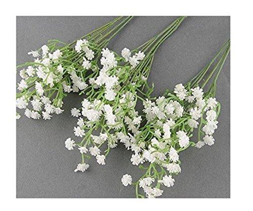 TaoNaisi 10 Stück künstliche Blumen, große Simulation, natürlicher Atem des Babys, künstliches Schleierkraut, Paniculata Blumen für die Tischdekoration Hochzeit Blumensträuße