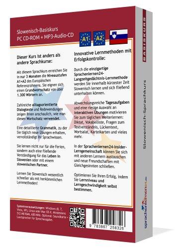 Ansicht vergrößern: Sprachenlernen24.de Slowenisch-Basis-Sprachkurs: PC CD-ROM für Windows/Linux/Mac OS X + MP3-Audio-CD für MP3-Player. Slowenisch lernen für Anfänger.