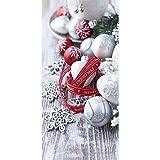Textilbanner - Thema: Weihnachten - Tischdekoration & Weihnachtskugeln - 180cmx90cm