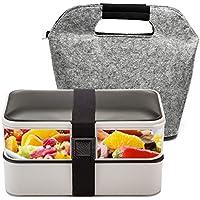 BOQUN 1200ml Bento Box Lunchbox, Lecksicher Spülmaschinenfest Mikrowellenfest