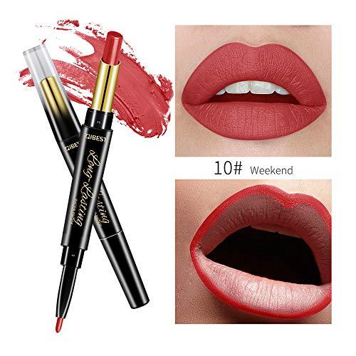 POachers Double fin Durable Lipliner Waterproof Lip Liner Stick Crayon Rouge à lèvres Crayon à lèvres Palette/Rouge à Lèvres mat/imperméable permanent contour Crayons