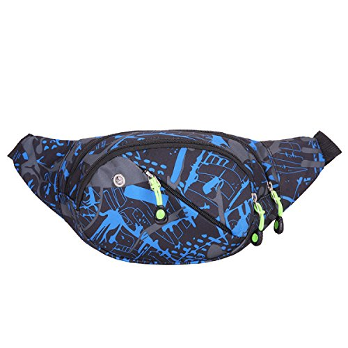 Outdoor Camuffamento Casuale Correndo Acqua Bulk Bag Poliestere Fanny Pack (stili Multipli),F B