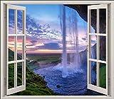 """Sticker finestra l'oeil, a forma di cascate d """"acqua, rif. 5454, 120x105cm"""