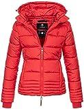 Marikoo Designer Damen Winter Jacke Steppjacke Winterjacke Stepp gesteppt B668 [B668-Sol-Rot-Gr.M]