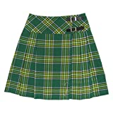 Kilt/jupe portefeuille plissée - tartan Irish - long. 51 cm - vert - EU44 UK16