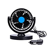 Anpress HX-T305 12V 360 Ventilateur de refroidissement de voiture rotatif Ventilateur oscillation d'air automatique Protable Ventilateur mini ventilateur Ventilateur de vent faible bruit Ventilateur de voiture Climatiseur de voiture Ventilateur de refroidissement