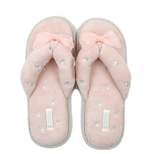 Millffy Home Floor Soft Coral Velvet Fleeces Slippers Shoes flip Flops Japanese-Style Slippers