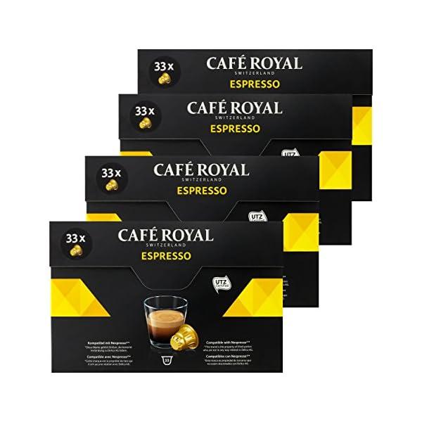 51cXm9lMjCL._SS600_ Café Royal Espresso, Caffè, Caffè Tostato, Capsule, Nespresso connettore, 132Capsule