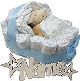 Schlaf Schaf Babygeschenke Windeltorte mit Namen Rassel Feuchttücher Set I Nachtlicht für Mädchen Junge I Lillydoo Windel