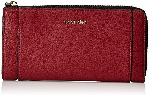 Calvin Klein Damen Metropolitan Large Zip Around S Geldbörse, Rot (Red Dahlia/Pink), 3x10x20 cm -