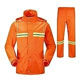 RFVBNM Regenmantel Regenanzug Anzug Hygiene Arbeiter wasserdicht langärmelige Kleidung Doppel Dicke Erwachsene Split reflektierende Arbeit Poncho, XL