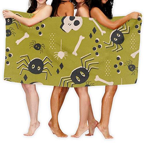 Socksforu Strandtuch Vintage Halloween Schädel weiches leichtes saugfähiges Mittel für Bad Schwimmbad Yoga Pilates Picknick Decke Handtücher