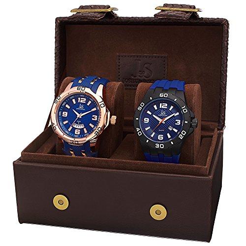 Joshua & Sons JX113BU - Set de 2 Relojes de Cuarzo para Hombres, Color Azul
