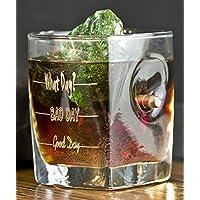 Whisky Glas mit realem Geschoß und gratis Gravur - God Day - Bad Day - What Day? - Geschenkideen Trink Glas