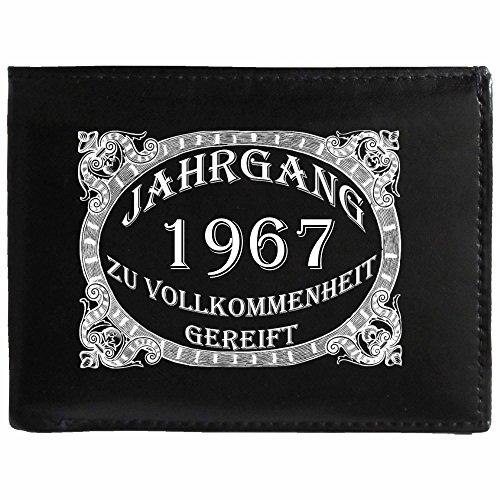 Zu Vollkommenheit Gereift 1967 wallet , Herren Leder Nappa Geldbörse Portemonnaie Geldbeutel, aus weichem Leder, Jahr Jahrgang Zu Vollkommenheit Gereift Vintage aged to perfection