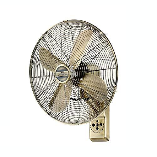 Wall Fan ALY® Ventilador De Pared De Metal Vintage, Oscilante, 50w, Mando A Distancia Y Temporizador...