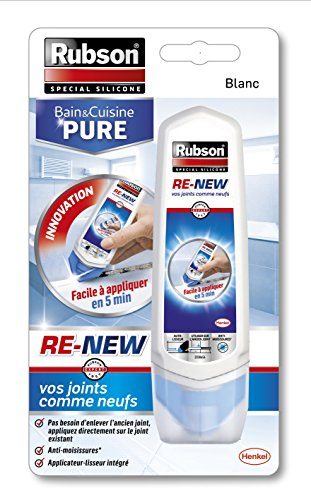 Rubson re-new Bad & Küche Pure Silikon-Dichtstoff Tube 100 ml