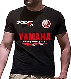 Print & Design T-Shirt Maglietta Yamaha YZF-R6 Personalizzata Nera (m)
