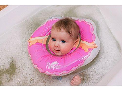 Schwimmring Flipper Schwimmreifen für den Hals Schwimmhilfe (Pink)