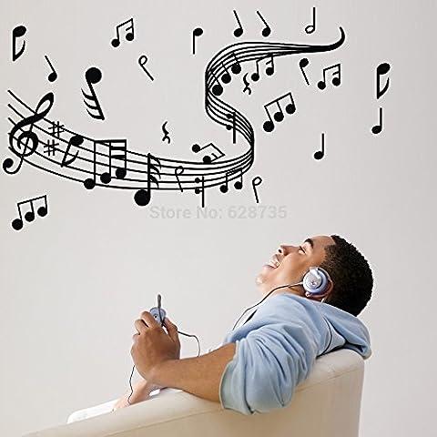Nota Musical pegatinas pared , pared pegatinas vinilo música decoración del hogar, decoración del hogar musical ,