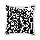 beautifulseason 45,7x 45,7cm/45von 45cm Zebra Textur, Überwurf-Bezüge, 2Seiten Ornament und Geschenk to Dance Raum Kinder Bar Sitz Stuhl Diwan Bar